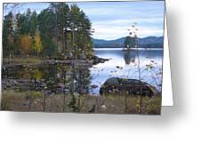 Lake Gustav Adolf Sweden Greeting Card