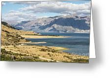 Lake Hawea In New Zealand Greeting Card