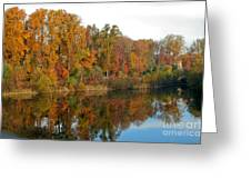 Lake Helene And Fall Foliage Greeting Card