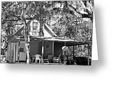 Lake House Black And White Greeting Card