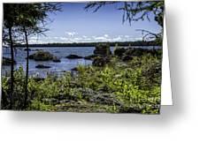 Lake Huron Cedarville Michigan Greeting Card