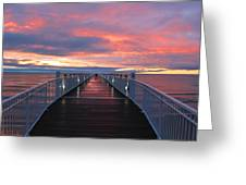 Lake Huron Pier Greeting Card