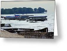 Lake Huron Shoreline Leading To Sand Point Greeting Card