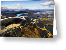 Lake In An Old Volcanic Crater Or Greeting Card