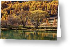 Lake In Autumn - 3 - French Alps Greeting Card