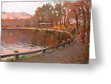 Lake In Bear Mountin Greeting Card
