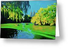 Lake In Central Park Ny Greeting Card