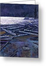 Lake In Moonlight Greeting Card