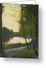 Lake In The Evening Greeting Card