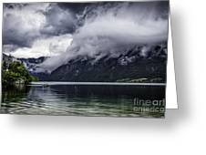 Lake In The Julian Alps Slovenia 1  Greeting Card
