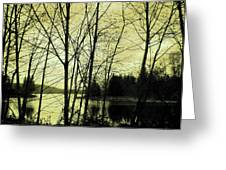 Lake In Winter Greeting Card