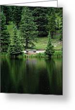 Lake Irene Dressed In Green Greeting Card