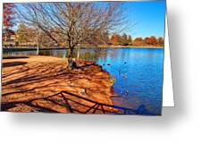 Lake Island Greeting Card