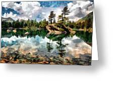 Lake Island View Greeting Card