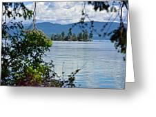 Lake Islet Greeting Card