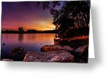 Lake Kirsty Twilight Greeting Card