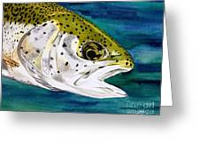 Lake Leopard Greeting Card
