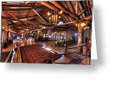 Lake Lodge Interior Yellowstone Greeting Card