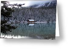 Lake Louise Boathouse Greeting Card