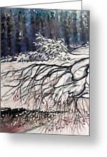 Lake Louise In Winter Greeting Card