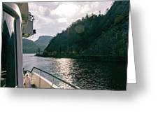 Lake Lucerne From A Boat  Greeting Card