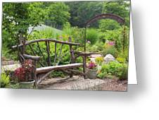 Lake Lure Flowering Bridge Bench Greeting Card