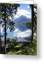 Lake Mcdlonald Through The Trees Glacier National Park Greeting Card