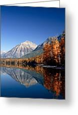 Lake Mcdonald Autumn Greeting Card