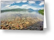 Lake Mcdonald In Glacier National Park At Sunset Greeting Card