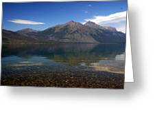 Lake Mcdonald Reflection Glacier National Park 2 Greeting Card