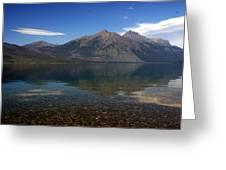 Lake Mcdonald Reflection Glacier National Park 2 Greeting Card by Marty Koch