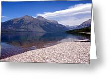 Lake Mcdonald Reflection Glacier National Park 4 Greeting Card