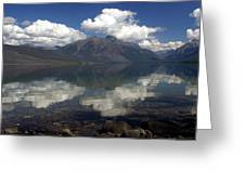 Lake Mcdonald Reflection Glacier National Park Greeting Card