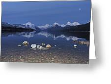 Lake Mcdonald Rocks Greeting Card