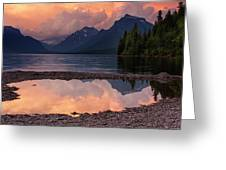 Lake Mcdonald Sunset Greeting Card