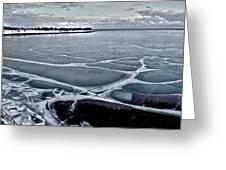 Lake Michigan Frozen Greeting Card