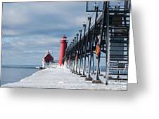 Lake Michigan Ice Greeting Card