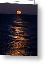 Lake Michigan Moonrise Greeting Card