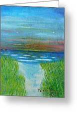 Lake Michigan Sunrise 02132016 Greeting Card