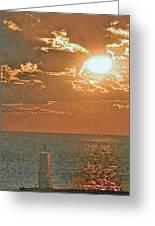 Lake Michigan Sunset. Greeting Card
