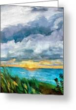 Lake Michigan Sunset Greeting Card