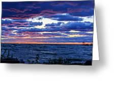 Lake Michigan Windy Sunrise Greeting Card