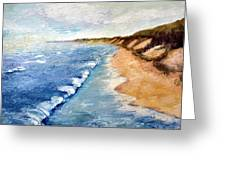 Lake Michigan With Whitecaps Ll Greeting Card by Michelle Calkins