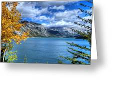 Lake Minnewanka Banff National Park Alberta Canada Greeting Card