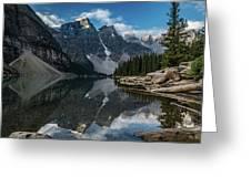 Lake Moraine Reflection Greeting Card