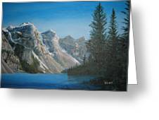 Lake Moraine Greeting Card