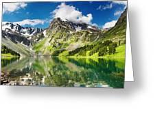 Lake Mountain Green Nature Landscape By Elvin Siew Chun Wai Greeting Card
