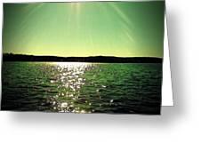 Lake Murray Sun Greeting Card