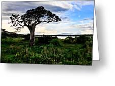Lake Ndutu Shores Greeting Card