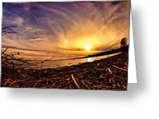 Lake Nipissing Sunset Callander Bay Greeting Card